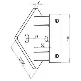 Pata sloupku boční 12-03-001