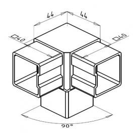 Spojka nerez madla rohová 12-04-152
