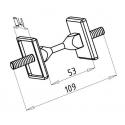 Spojka dřevěného madla 3D 12-04-200