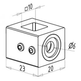 Kotva nerezového prutu □10 mm 12-06-001