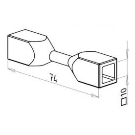 Spojka nerez prutů □10 mm - 3D 12-06-100