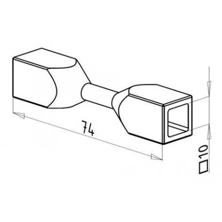 Spojka nerez prutů □10 mm - 3D