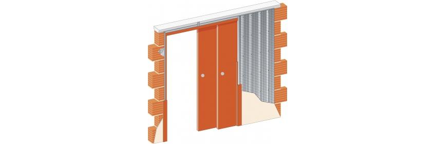 Dveře jednokřídlé paralelní