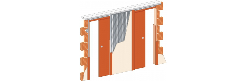 Dveře jednokřídlé dvojité pouzdro