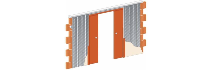 Dveře dvoukřídlé posuvné